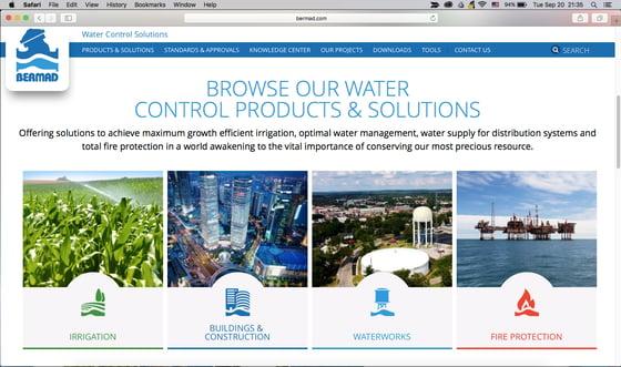 Irrigation website and blog