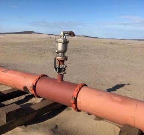 installation along horizontal pipelines