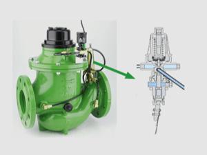 Paddle flow control valve
