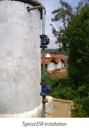 Typical ESR installation