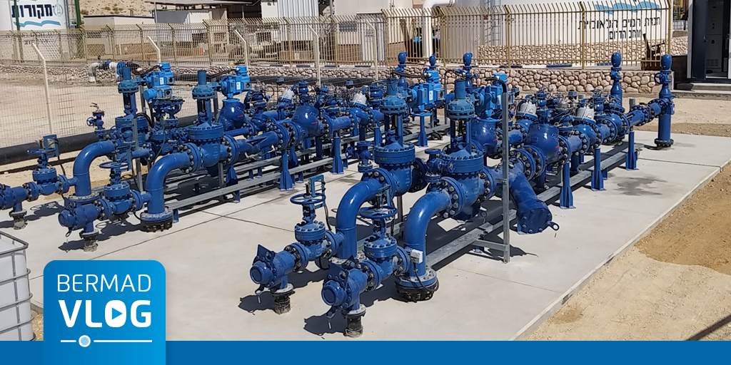 High pressure reduction system for water supply in the Dead Sea Region