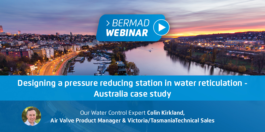 Designing a pressure reducing station in water reticulation - Australia case study