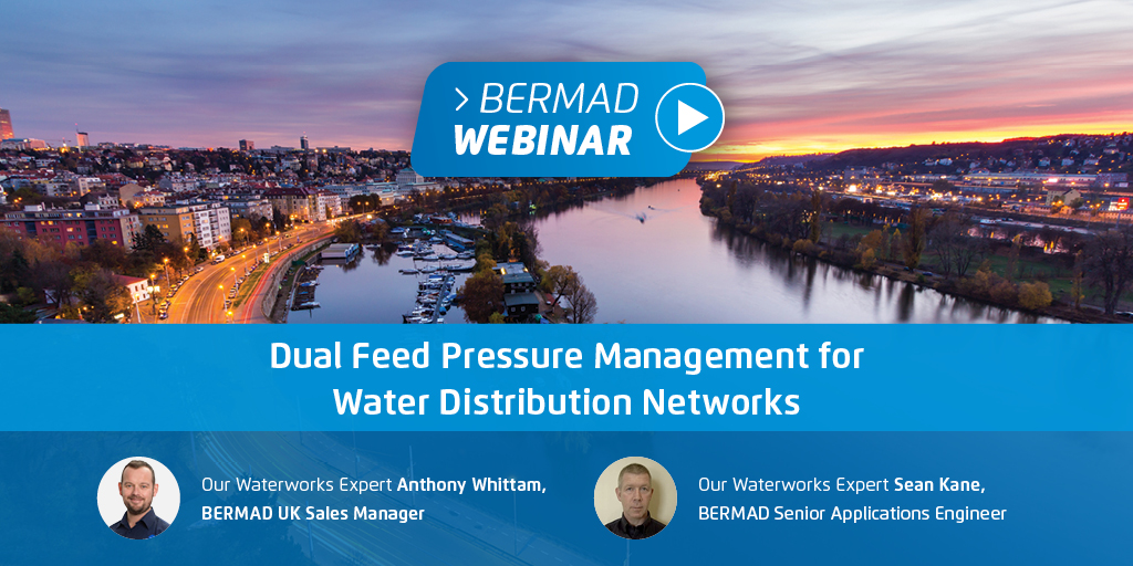 Dual Feed Pressure Management for Water Distribution Networks