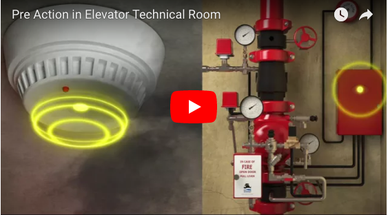 Deluge Valve - Preaction System for an Elevator Technical Room